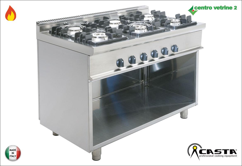 Cucina fuochi a gas su mobile